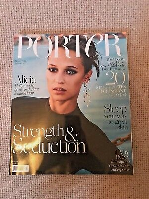 PORTER Magazine Winter 2016 Alicia Vikander Issue 17 NEW