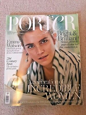PORTER Magazine Winter Escape 2015 Issue 12 with Emma Watson MINT Condition!