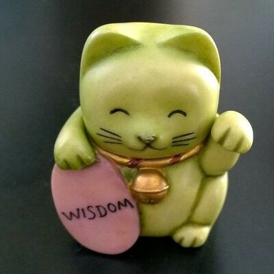Harmony Kingdom Pot Belly's Wisdom Cat 2003 New in Box Collectable Figurine