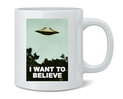 I Want To Believe UFO 11 ounce Coffee Mug 3x5
