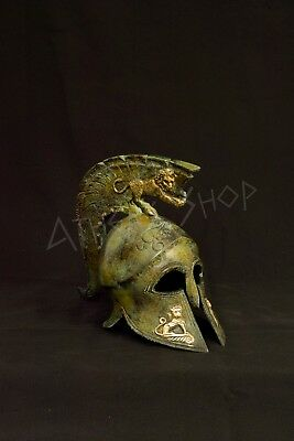 Ancient Greek Bronze Helmet (With Lions )