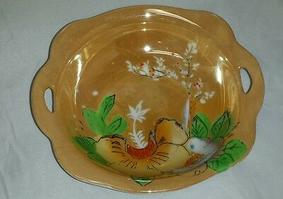 """Japanese Rice Bowl: Vintage Mid Century Floral 6"""" Asian Soup Bowl FREE SHIPPING"""