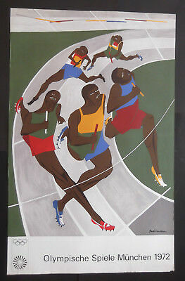 Jacob Lawrence Plakat Olympische Spiele 1972 München OLYMPIA