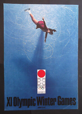 Saporo Plakat Olympische Winter Spiele 1972 Japan OLYMPIA