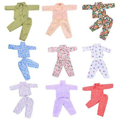 Handmade Clothes Pajamas Sleepwear for 18inch American Doll Journey My Life Doll