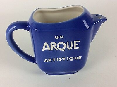 Restoration Hardware French Blue Ceramic Vintage Style Arque Artistiq Pitcher
