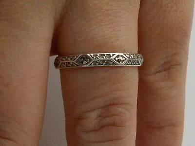Vintage Silver Facet Ring With Stones Metal Detecting Find