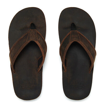 01b4f3162ae4d2 Animal Mens Flip Flops.jekyl Real Leather Soft Toe Post Thongs Sandals 8S  14 19