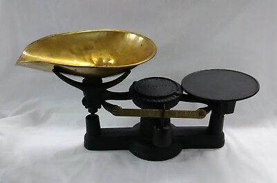 Antique Howe's Scale 1867 Black Iron Brass Brandon VT Vermont Vintage Howe 15""