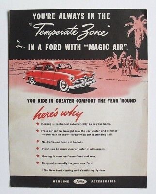 """Vintage FORD """"Magic Air"""" system, accessories brochure"""