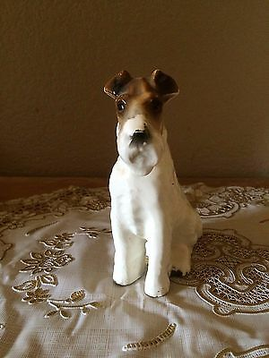 Wire Haired Fox Terrier/Schnauzer Figurine Pre 1930