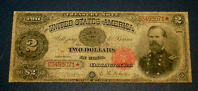 1891 $2 Two Dollar McPHERSON Treasury *** STAR NOTE *** Legal Tender