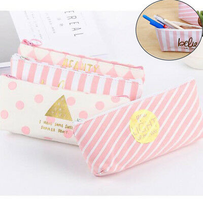 Fournitures Scolaires Stockage  Trousse Maquillage Pouch Toile Zip Coin Bag