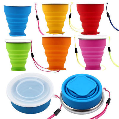 1PC Portable Silicone Telescopic Drinking Collapsible Folding Cup Travel Camping