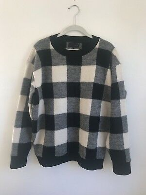 HATCH Collection Louisa Buffalo Check Sweater Size 1