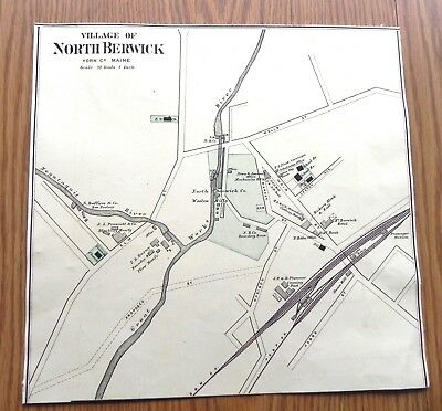 1890 North Berwick, Maine map w/family/place names