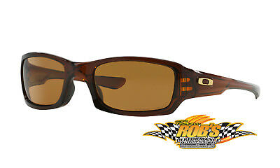 New Oakley Fives Squared Polished Root Beer W/bronze #oo9238-08