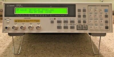HP Agilent 4263B LCR Meter 100Hz to 100kHz with Options 001 & 002