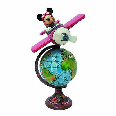 Figure Disney Traditions Globetrotting Aviator Mickey Mouse Topolino Statua #1