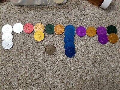 Alcoholics Anonymous AA Lot of 21 Medallions Coins Chips Tokens + 1 Bronze Coin