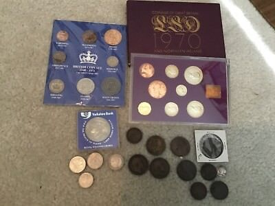 Lot of Coins From Great Britain 1762  to 1992 Silver & Other