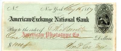 1867     N.Y.   American Phototype Co.   Bank Check  RNB2