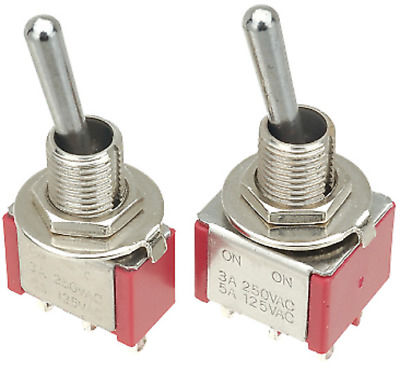 1x Salecom Toggle Switch SPDT / DPDT On - On / On - Off - On / (On) - Off - (On)