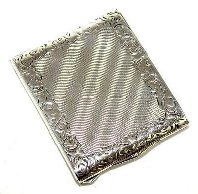 Superb Antique Silver (900) Card Case,Chased Decoration,Excellent Condition, 69g