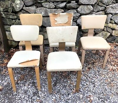 Vintage Set Of 5 Thonet Bentwood Chairs Mid Century Modern Eames Era