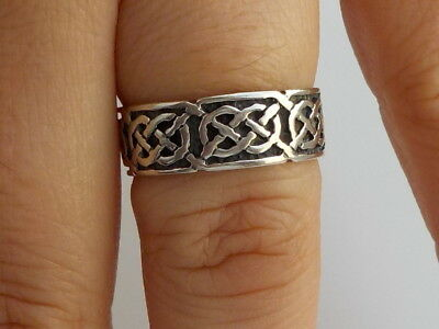 Silver Celtic Love Knot Ring Metal Detecting Find