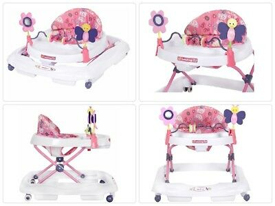 Infant Baby Child Activity Walker Station Jumper Bouncer Walk Butterfly Seat Toy