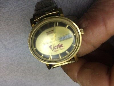 Vintage BENRUS FROSTIE ROOT BEER WRISTWATCH Frostie Root Beer Watch