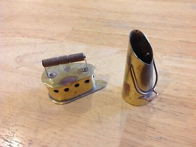 Mini Copper w Brass Collectible Kitchen Items - Lot of 2 Pieces -Holland- NICE!