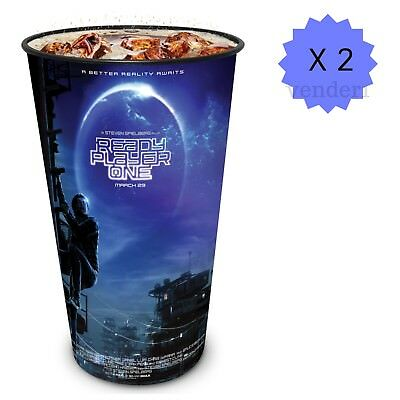 New Ready Player One Exclusive Movie Theater 44-ounce Cups (Lot of 2)