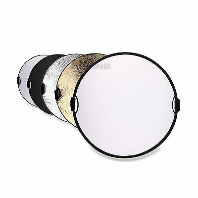 """Photography Photo Reflector 43"""" 5in1 Light Mulit Collapsible Portable Reflector"""