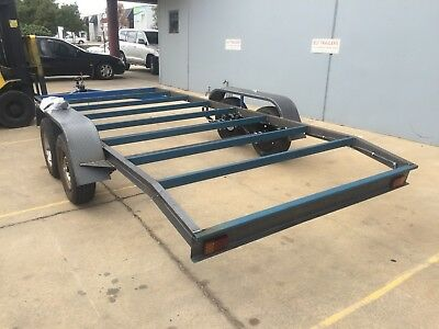 BRAND NEW Flat bed Beaver Car Trailer CHASSIS Tandem axle 16FT NO RAMPS OR PAINT