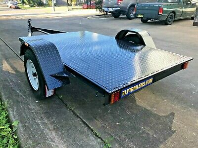 Brand new Flat bed Trailer 8x5 incl new wheels suit dirt bikes AUSTRALIAN MADE