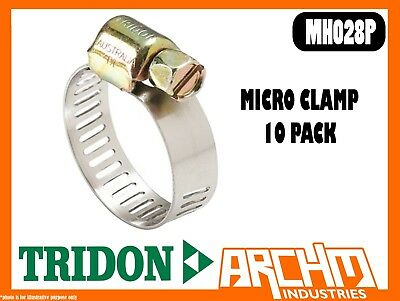 Tridon Mh028P - Micro Clamp - Hose 10 Pack 40Mm-57Mm Perforated Part Stainless