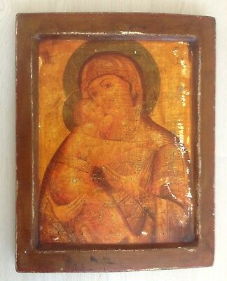 Old Russian Icon Of The Mother Of God