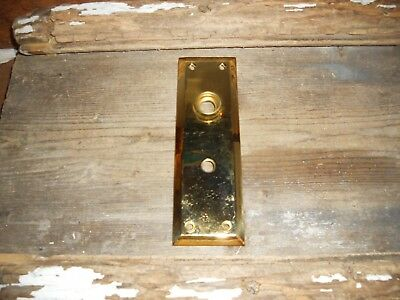 Vtg Style Bright Brass Antique Door Knob Back Plate With Nice Mirror Like Finish