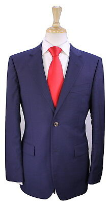 * GUCCI * Very Recent Solid Navy Blue 2-Btn Luxury Wool Suit 38R