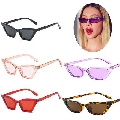Retro Small Cat Eye Sunglasses Rectangle Steampunk Rivet Women Fashion Shades Ww