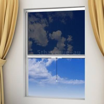 White Roll Down Insect Screen for Windows 60 x 150 cm K6A4