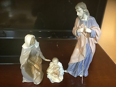 LLADRO NAO Holiday Christmas Nativity Scene Set Jesus Mary Joseph BEAUTIFUL