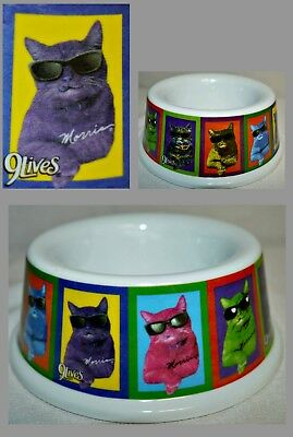 NEW Cat Bowl Small Heavy Duty Plastic Featuring Morris for 9 Lives Cat Food