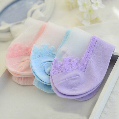 Pretty Women Soft Lace Socks Antiskid Invisible Liner Socks Low Cut Boat Socks