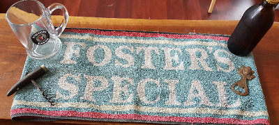 Fosters Special Bar Towel Man Cave or Home Bar Aussie Made Pub Mat