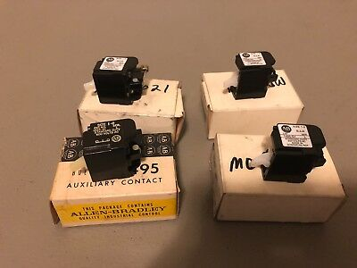 New In Box Allen-Bradley Auxiliary Contact 1495-G1 Series L Lot Of 3