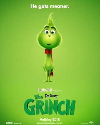 Dr. Seuss' The Grinch-(2018) 27X40 (Ds) Large Movie Poster-Benedict Cumberbatch