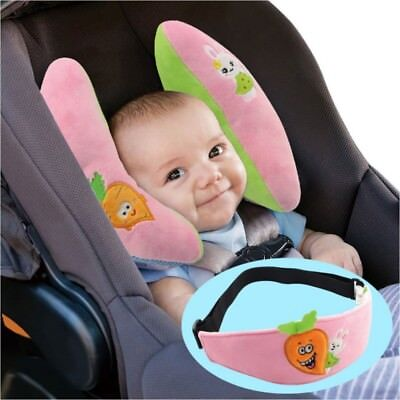 Toddler Infant Baby Kids Cushion Safety Seat Car Head Neck Rest Pillow+Eye Mask